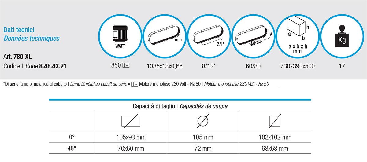 Femi 780 XL caratteristiche tecniche
