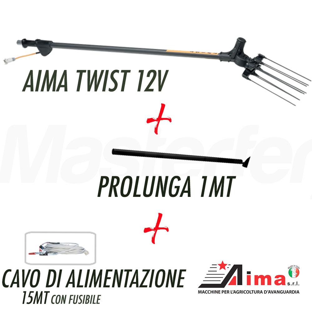 Aima TWIST 12V Elettroscuotitore abbacchiatore scuotiolive con asta fissa + prolunga 1MT