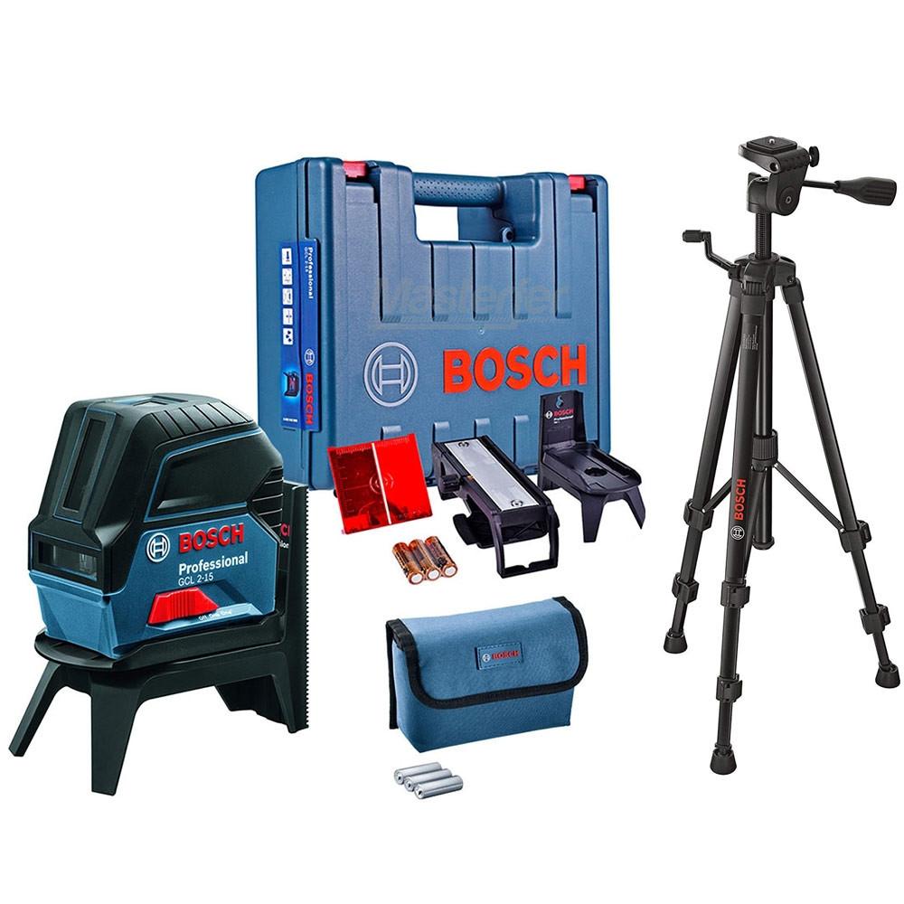 Bosch GCL 2-15 Livella laser a croce professionale 15MT + Piedistallo BT150