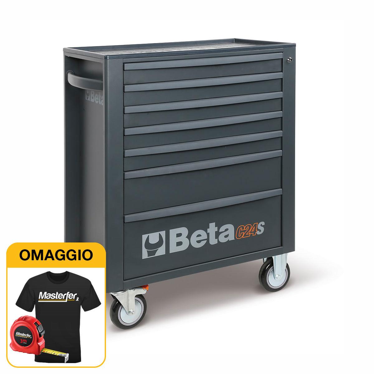 Beta C24S/7-M - Carrello porta attrezzi da officina con 7 cassetti