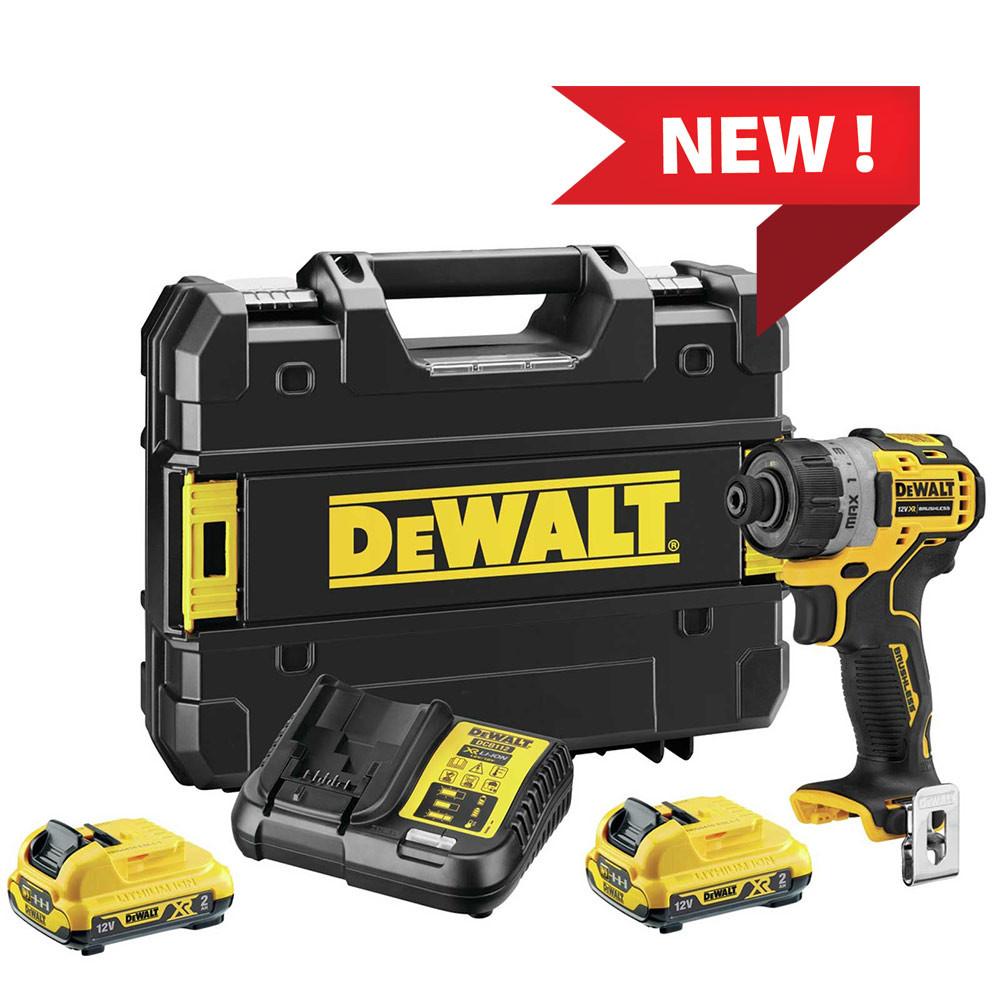 "Dewalt DCF601 - Trapano avvitatore a batteria 1/4"" 12V con 2 batterie da 2Ah"