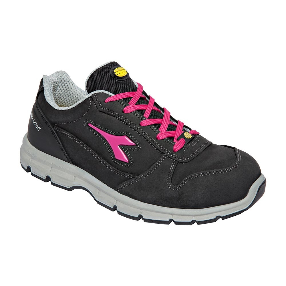 Scarpe antinfortunistiche da donna Diadora Run II Low S3 SRC ESD nero fucsia