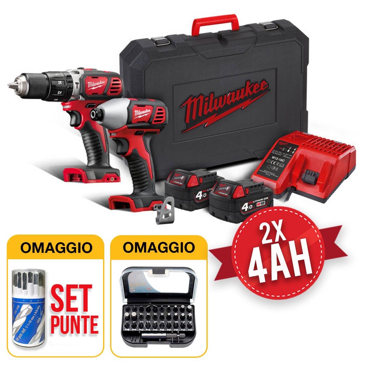 kit utensili milwaukee m18 avvitatore e massa battente