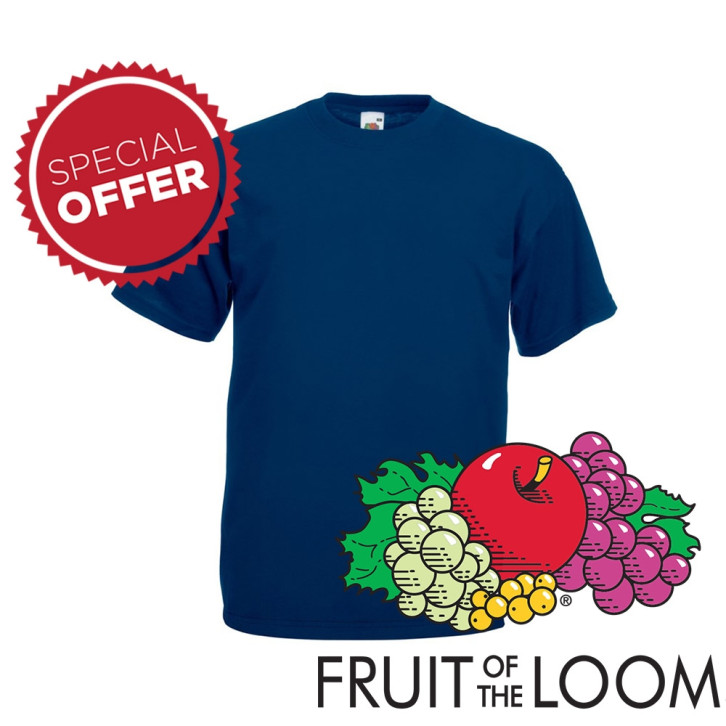 T-shirt Fruit of the loom maglietta maniche corte ValueWeight