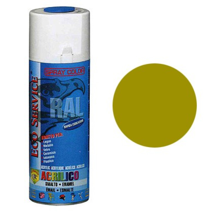 Eco Service RAL1027 spray 400ml - Giallo Curry