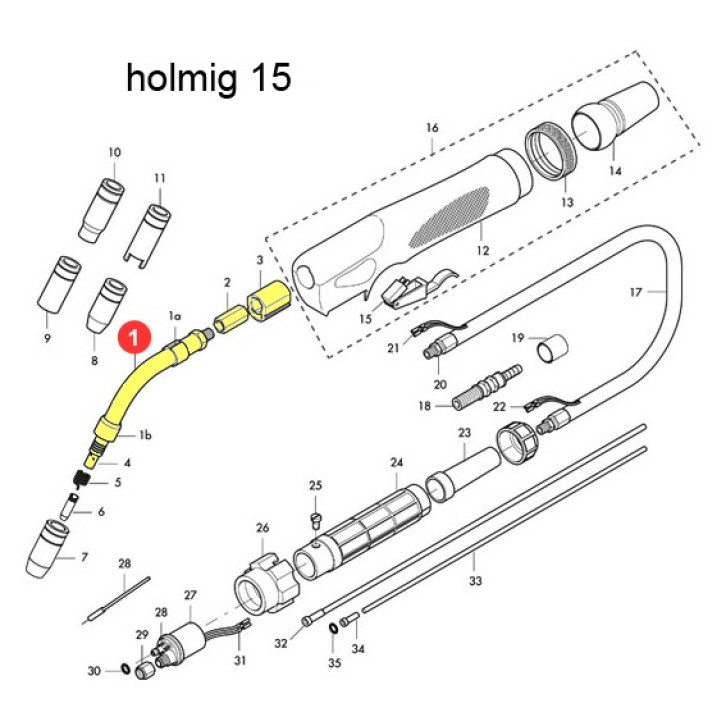 Corpo torcia completo per Holmig 15 (HG015)