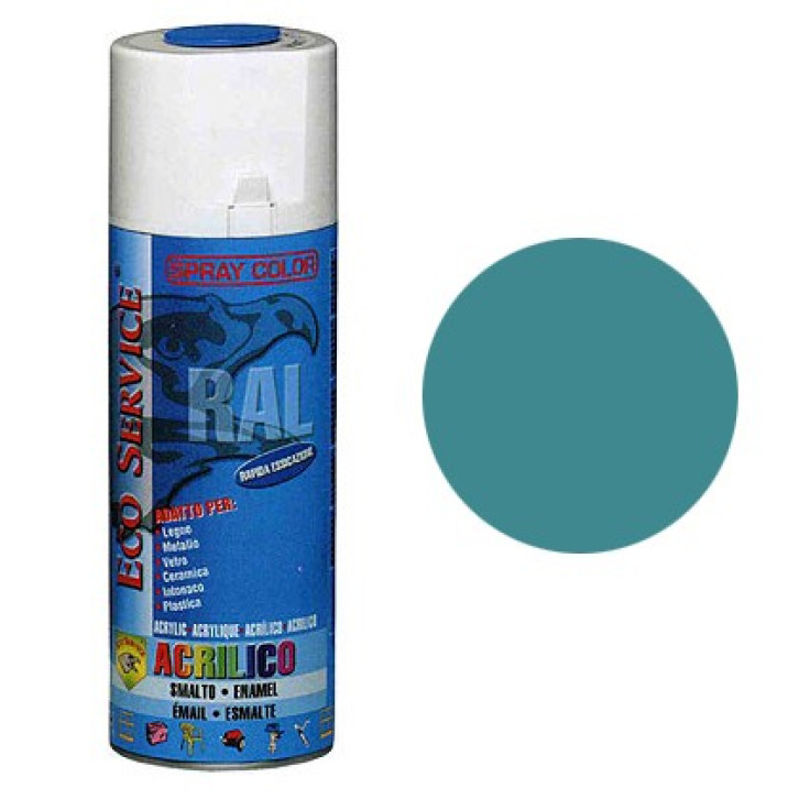 Eco Service RAL5018 spray 400ml - Blu Turchese