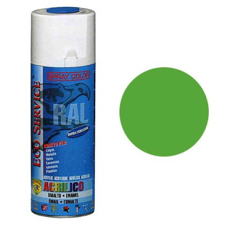 Eco Service RAL6018 spray 400ml - Verde Giallastro