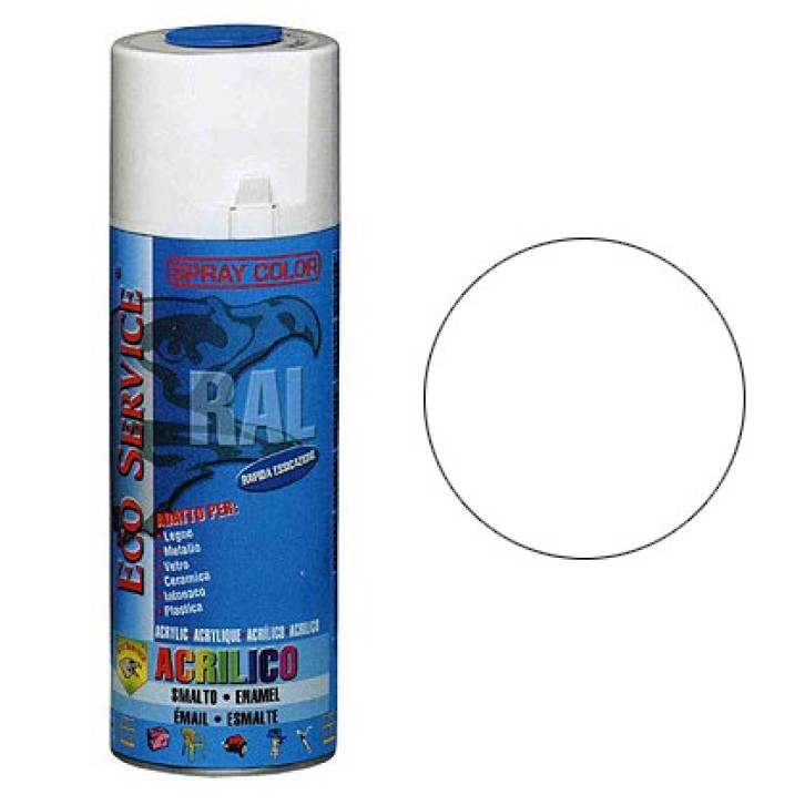 Eco Service RAL9010 spray 400ml - Bianco Lucido
