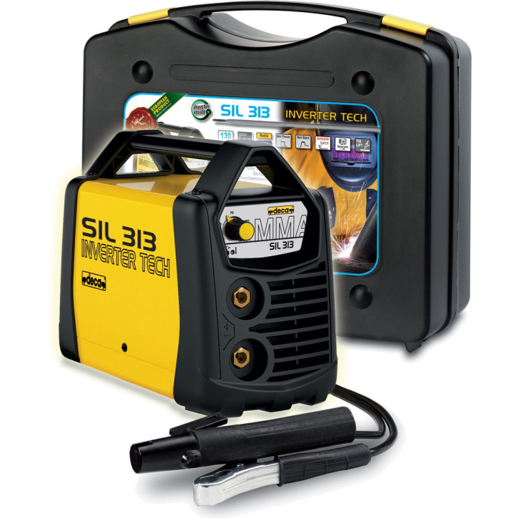 Saldatrice inverter Deca SIL 313 (130 A) con KIT completo pronta all'uso