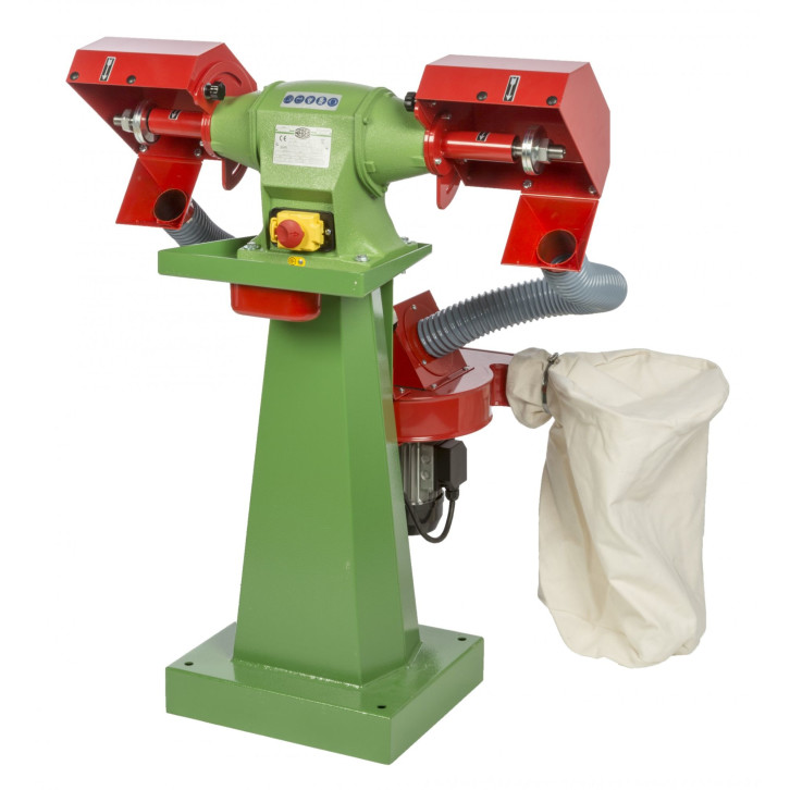 Pulitrice con aspiratore Nebes PA-10 serie industriale in ghisa - 1,0 HP monofase