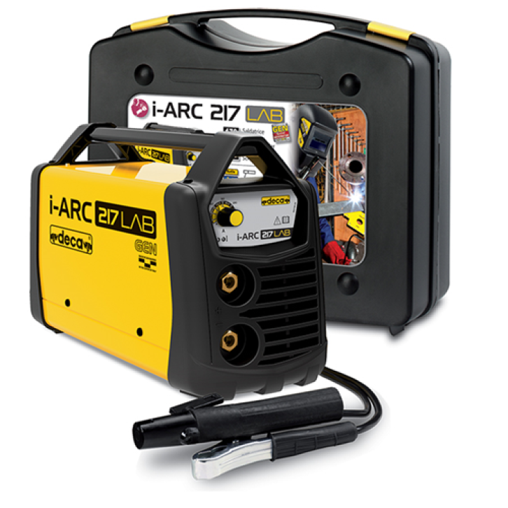 Saldatrice inverter Deca i-ARC 217 LAB (170 A) con KIT completo pronta all'uso