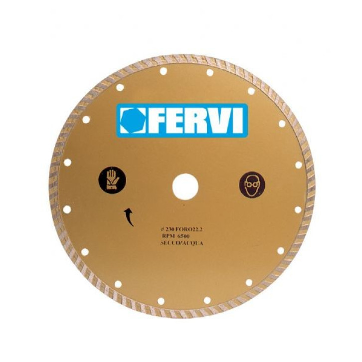 Fervi 0527 - Disco diamantato turbo