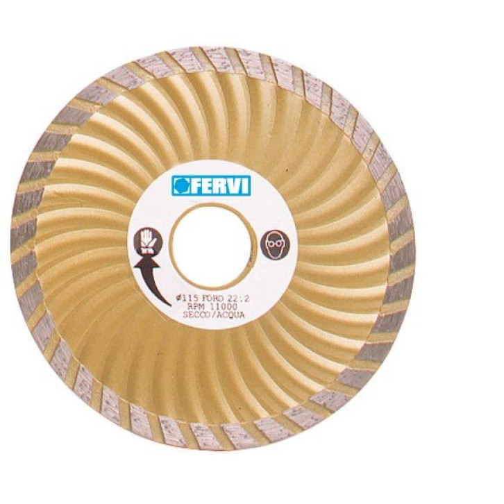 Fervi 0709 - Disco diamantato turbo ventilato