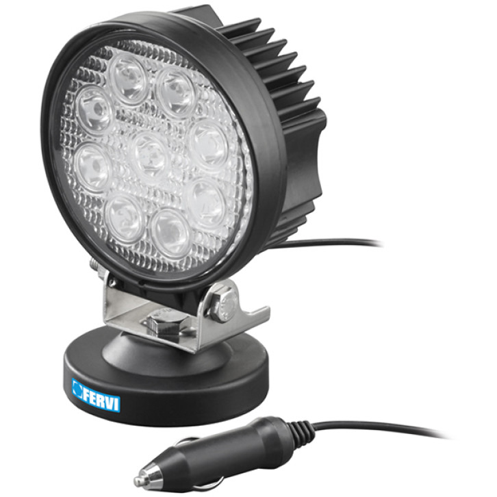 Fervi 0713/27 - Faretto a led con base magnetica 27w