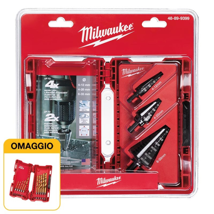 Set 3 frese a gradino Milwaukee 4/12