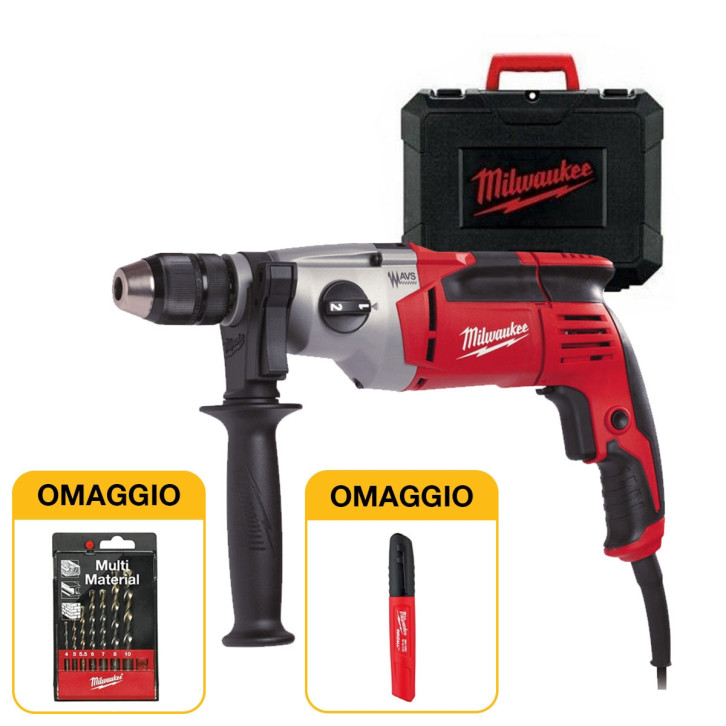 Kit Milwaukee PD2E24RKIT2 trapano a filo + Set punte multimateriale + Pennarello