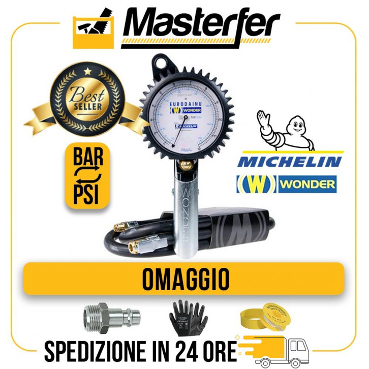 Pistola gonfiaggio pneumatici professionale Wonder by Michelin Bar/Psi