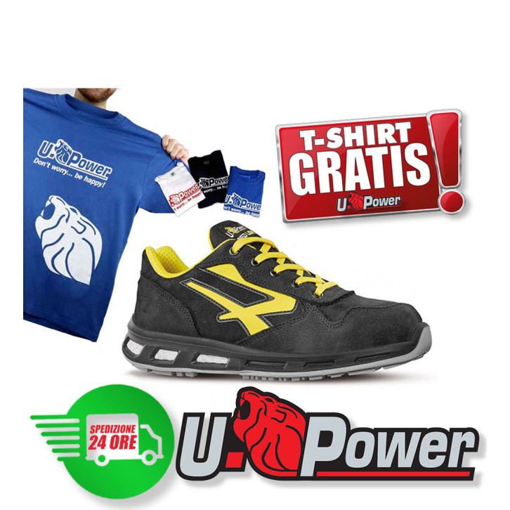 Scarpe antinfortunistiche U-Power Bolt S3 SRC Red Lion idrorepellenti