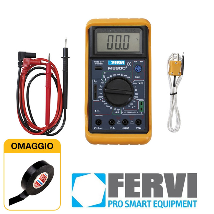Fervi T050 - Multimetro digitale tester