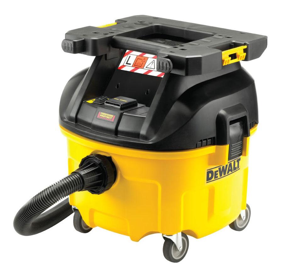 Aspiratore professionale 1400W 30l Dewalt DWV901LT specifico per EDILIZIA con scuotifiltro automatico