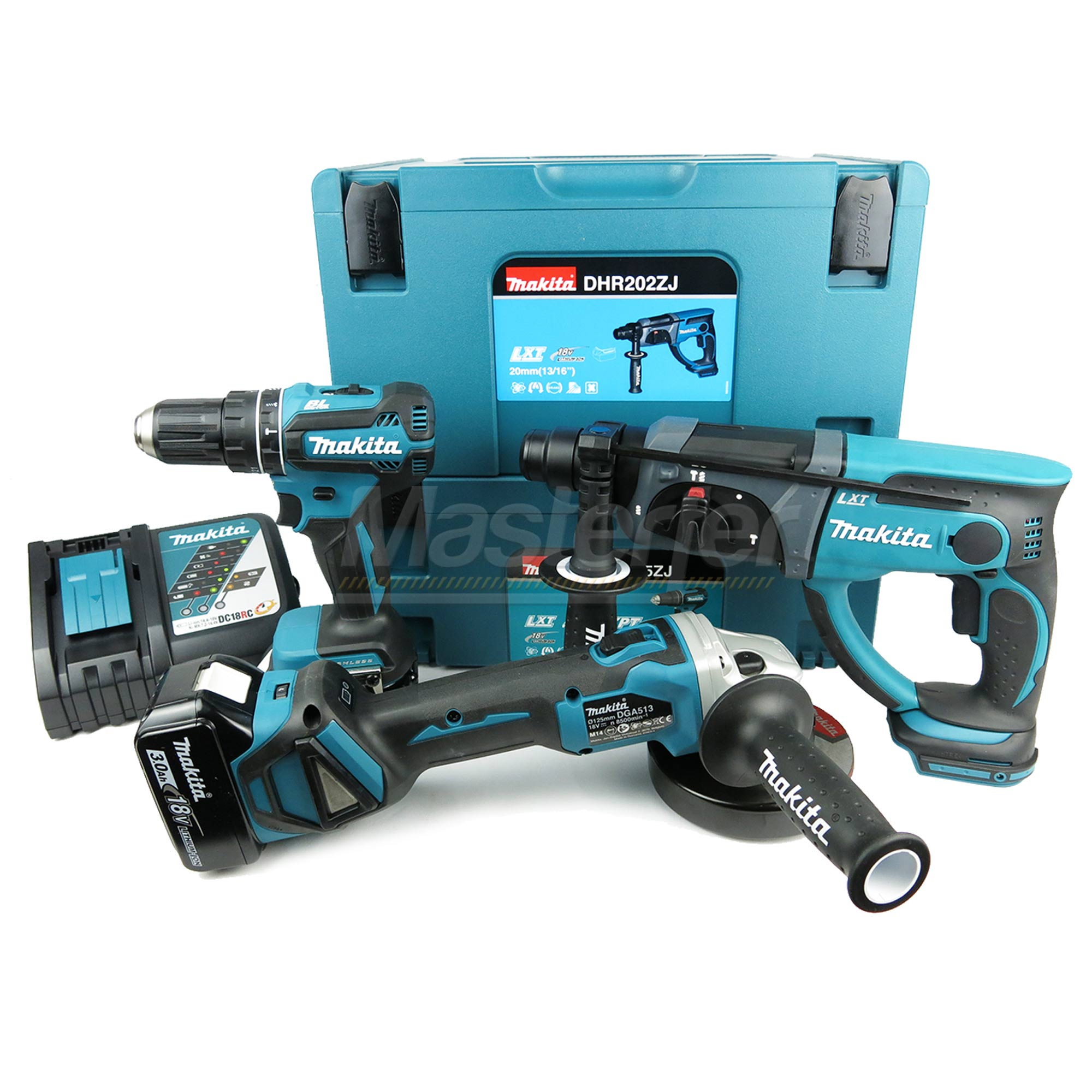 kit utensili a batteria makita 18v trapano tassellatore smerigliatrice
