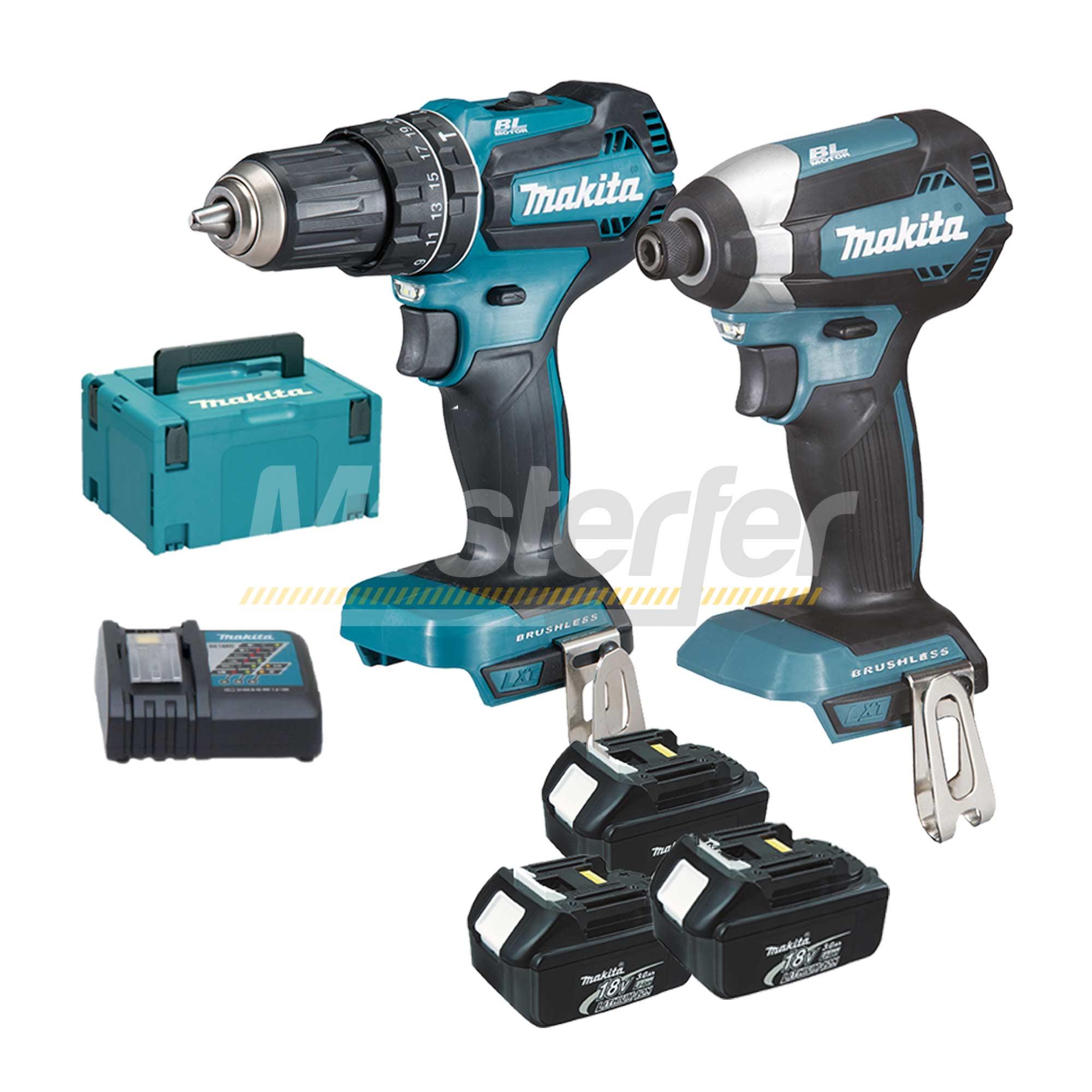 kit makita utensili a batteria 18v dlx2283jx1