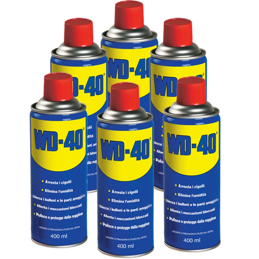 spray lubrificante sbloccante wd40 6 pack 400ml